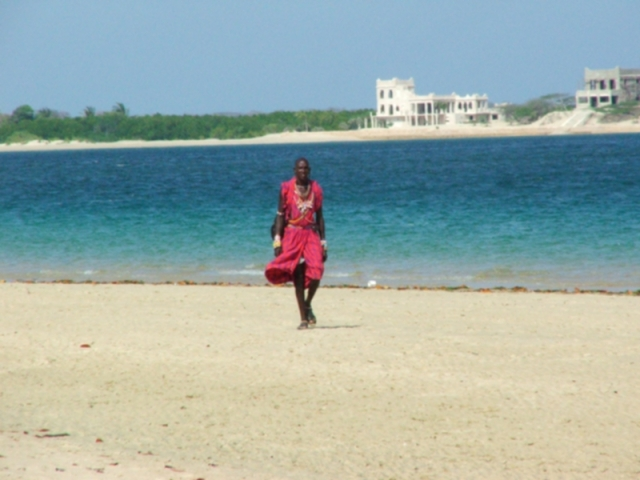 My Masai Friend on the Beach